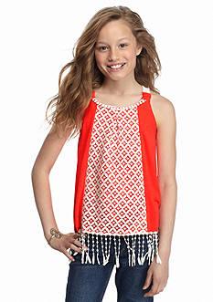 SEQUIN HEARTS girls Crochet Fringe Tank Top Girls 7-16
