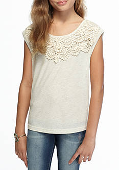 My Michelle Knit Crochet Top Girls 7-16