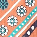 Girls Long Sleeve Shirts: Orange My Michelle Chiffon and Crochet Border Print Top Girls 7-16