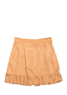 SEQUIN HEARTS girls Suede Fringe Skirt Girls 7-16