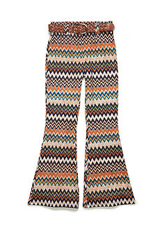My Michelle Chevron Print Flare Bell Bottom Pant Girls 7-16