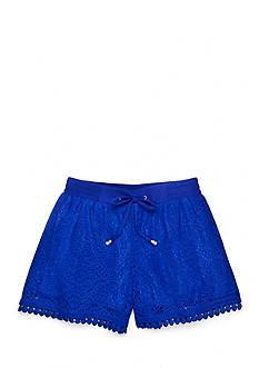SEQUIN HEARTS girls Crochet Overlay Shorts Girls 7-16