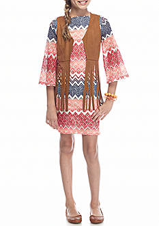 SEQUIN HEARTS girls Chevron Lace Dress and Suede Cozy Girls 7-16