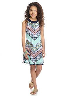 SEQUIN HEARTS girls Chevron Print Swing Dress Girls 7-16