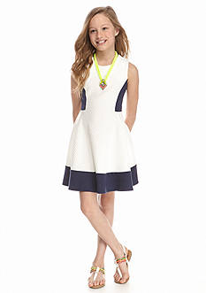 SEQUIN HEARTS girls Colorblocked Skater Dress Girls 7-16