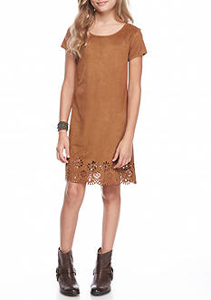 SEQUIN HEARTS girls Suede Cut out Hem Dress Girls 7-16