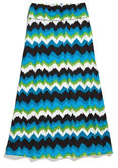 Sequin Hearts Chevron Maxi Skirt Girls 7-16