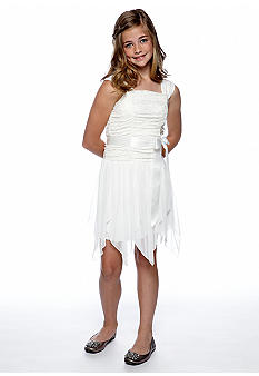 My Michelle Lace Jagged Hem Dress Girls 7-16