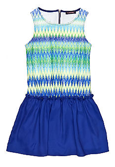 My Michelle Zigzag Stripe Dress Girls 7-16