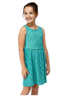 My Michelle Multi Tone Lace Dress Girls 7-16