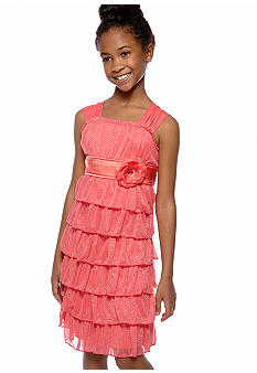 My Michelle Tiered Glitter Dress Girls 7-16