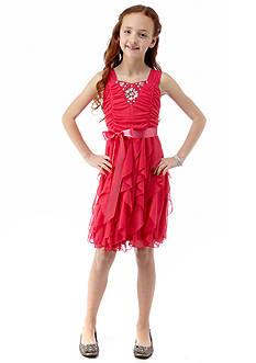 Sequin Hearts Corkscrew Dress Girls 7-16