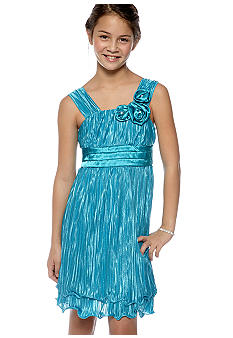 My Michelle Wire Hem Dress Girls 7-16