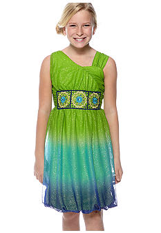 Sequin Hearts Ombre Dress Girls 7-16