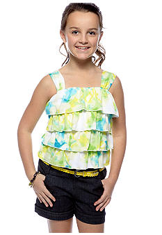 Sequin Hearts Tie Dye Romper Girls 7-16