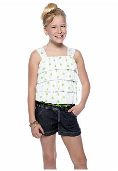 Jolt Tiered Polka Dot Romper Girls 7-16