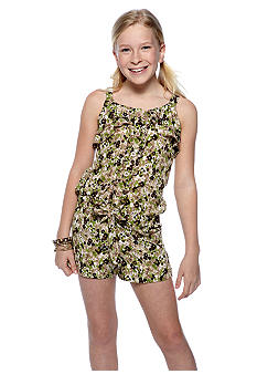 Sequin Hearts Camouflage Romper Girls 7-16