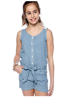 My Michelle Chambray Romper Girls 7-16