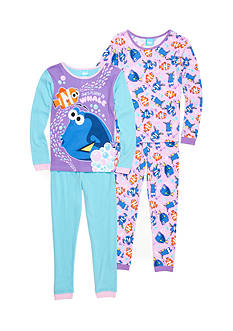Disney Pixar 4-Piece Finding Dory Pajama Set Girls 4-16