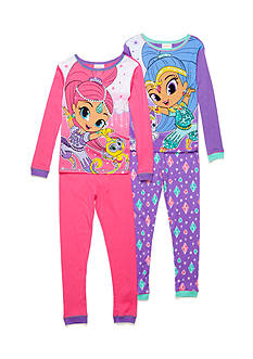 Nickelodeon™ 4-Piece Shimmer and Shine Pajama Set Girls 4-16