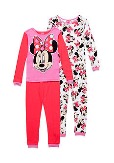 AME 4-Piece Minnie Mouse Pajama Set Girls 4-16
