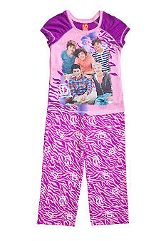 One Direction Animal Print 2-piece Pajama Set Girls 4-14