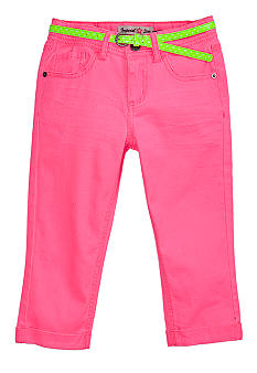 Imperial Star Cropped Neon Belted Jean Girls 7-16