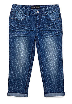 Imperial Star Daisy Dot Denim Crop Girls 7-16
