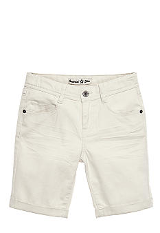 Imperial Star Twill Cuffed Bermuda Short Girls 7-16