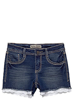 Imperial Star Lace Trim Denim Shorty Short Girls 7-16