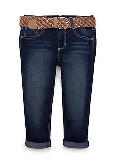 Imperial Star Braided Belt Capri Pants Girls 7-16