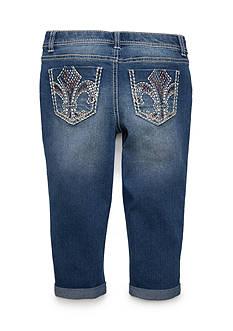 Imperial Star Fleur-de-lis Pocket Capri Pants Girls 7-16