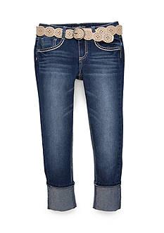 Imperial Star High Cuff Belted Capri Pants Girls 7-16