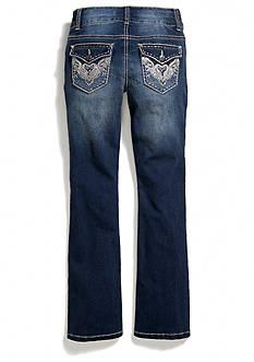 Imperial Star Glitter Trim Flap Pocket Bootcut Jeans Girls 7-16