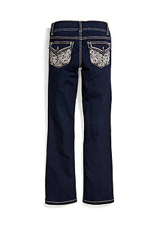 Imperial Star Heavy Stitch Bootcut Jeans Girls 7-16