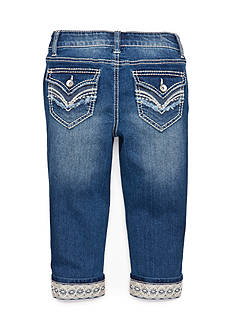 Imperial Star Lace Trim Crop Jeans Girls 7-16