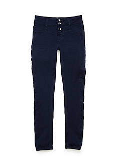 Imperial Star Triple Button Stacked Skinny High Rise Jean Girls 7-16