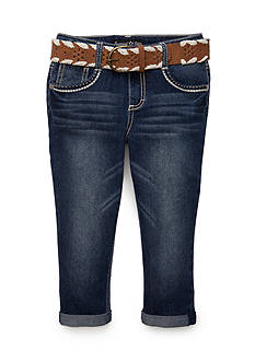 Imperial Star Suede Belted Capri Pants Girls 7-16