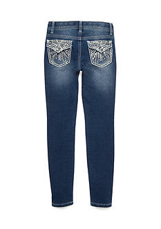 Imperial Star Knit Embroidery Skinny Jean Pants Girls 7-16
