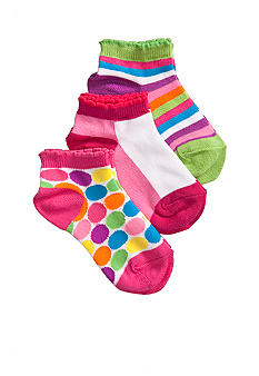 J Khaki Bright Assorted 3Pk Sock Girls 4-16