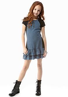DKNY Colorblock Knit Dress Girls 7-16