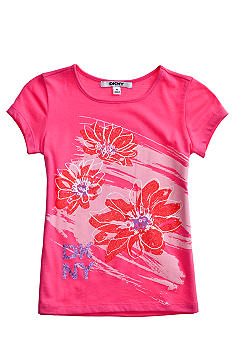 DKNY Flower Tee Girls 4-6X