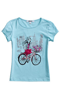 DKNY Bicycle Tee Girls 4-6X