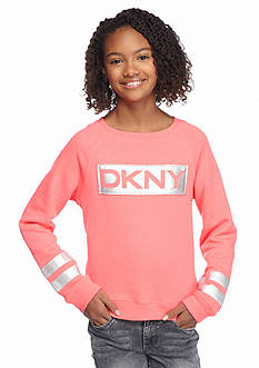 DKNY Holographic Logo Sweatshirt Girls 7-16