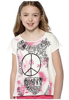 DKNY Boardwalk Glitter Tee Girls 7-16