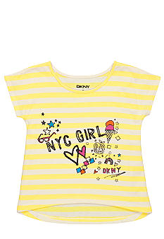 DKNY NYC Notes Tee Girls 4-6X