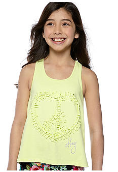 DKNY Fringed Applique Tank Girls 7-16