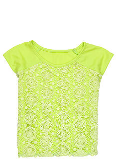 DKNY Bright Crochet Top Girls 4-6X