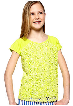 DKNY Bright Crochet Top Girls 7-16