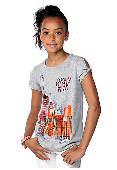 DKNY City Skyline Tee Girls 7-16